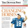 The front page of today's Denver Post is almost entirely Peyton Manning