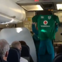 Aer Lingus had a nice surprise for Irish rugby fans heading over for the big match