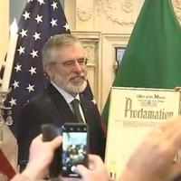 Mayor of New York declares today as Gerry Adams Day