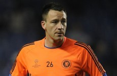 John Terry ruled out of City game tonight