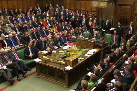 MPs listen as George Osborne delivers his third Budget since taking office.