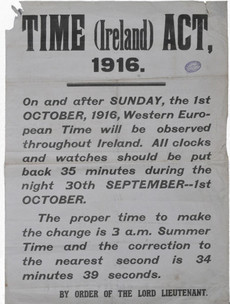 How Ireland lost 25 minutes because of a British law passed after the 1916 Rising