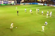 Hartlepool defender hits an absolute rocket from all of 40 yards
