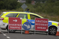 Two women (50s) killed after being struck by car involved in collision