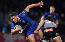Larmour a late withdrawal from Leinster's trip to Wales due to leg injury