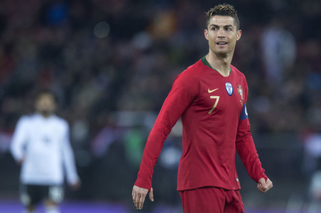 Cristiano Ronaldo pictured during the soccer friendly game Portugal against Egypt.