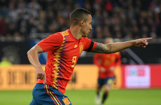 Rodrigo dedicates Spain goal to Canizares after death of son