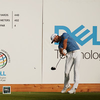 Dustin Johnson smashes a drive almost 500 yards - but it won't count as a record