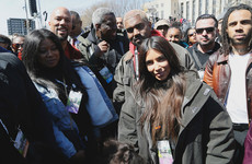 Celebrities came out in force to show their support during yesterday's March For Our Lives