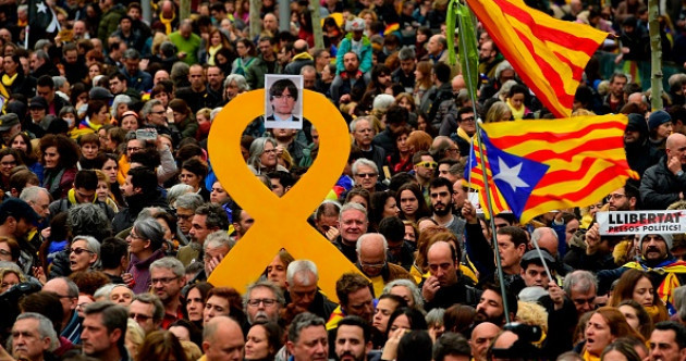 Thousands protest in Barcelona after ex-Catalan leader Puigdemont arrested
