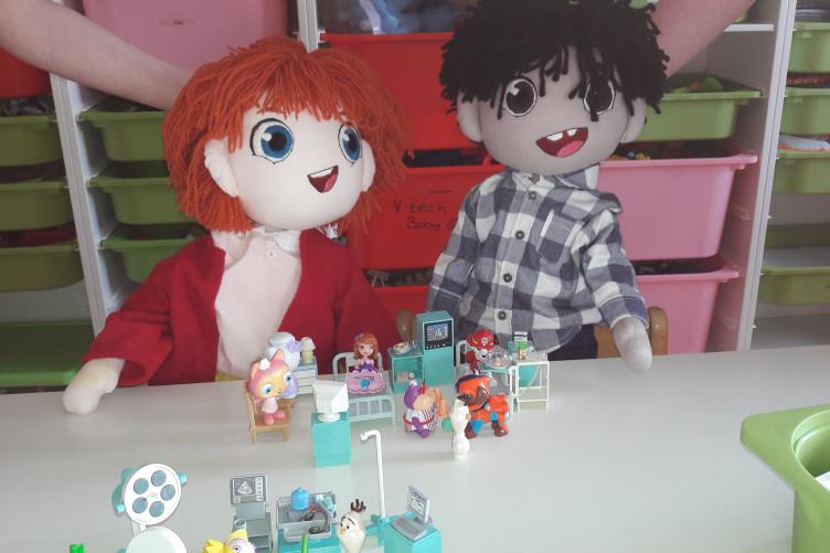 Ben and Tara, Temple Street Children's Hospital's mascots