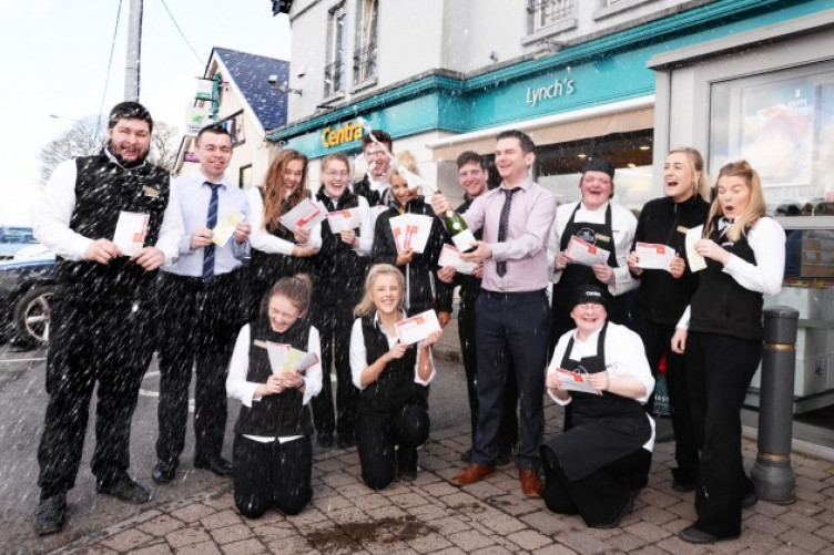 There were celebrations at the Centra in Crosshaven over the weekend after the store sold the winning ticket.
