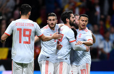 Isco nets hat-trick as Spain hit woeful Argentina for six