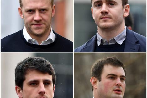 Top L-R: Stuart Olding, Paddy Jackson. Bottom L-R: Blane McIlroy, Rory Harrison
