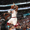 James ties Michael Jordan's double-digit scoring record as Cavs down Hornets
