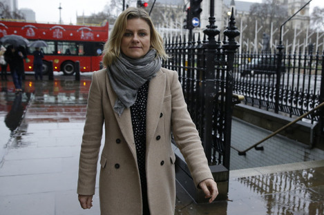 Zelda Perkins before she testified before British lawmakers investigating workplace sexual harassment