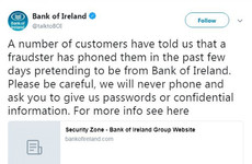 Bank of Ireland warns customers over 'vishing' scammers pretending to be from the bank
