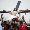 Devotees nail themselves to crosses at annual Good Friday ceremony in Philippines