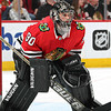 Emergency goalie call-up sees accountant steal the show in Blackhawks win