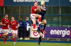 Timmins and Kelly cross as Leinster knock holders Munster out of B&I Cup