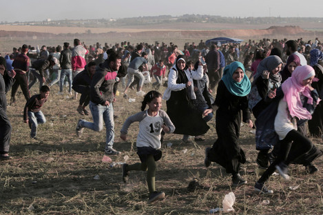 Hundreds get caught up in the protests along the Gaza border