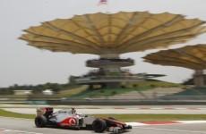 Hamilton fastest in Malaysian GP practice