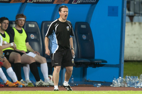 Collie O'Neill manages UCD in the First Division.