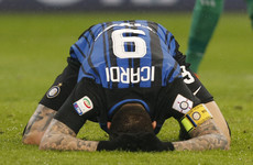 Icardi missed this absolute sitter as Inter and AC Milan settled for a derby draw