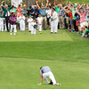 Golfer dislocates ankle while celebrating hole-in-one in Masters par-three competition