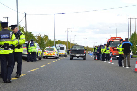 An Operation Thor checkpoint in Kilkenny last year.