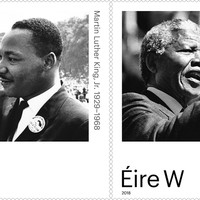 An Post issues stamps honouring Martin Luther King Jr and Nelson Mandela