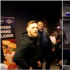 Conor McGregor almost threw a railing into a bus as he reacted to being stripped of his UFC title