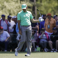 Sergio's Masters defence goes up in smoke as he hits FIVE balls in the water on one hole