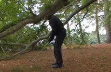Phil Mickelson had a fresh air when trying one of his trademark escape shots