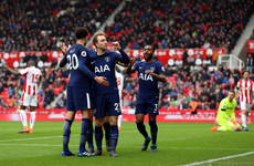 Eriksen double enough as Tottenham go level with Liverpool