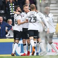 Irish defender on target as Derby boost Premier League promotion hopes