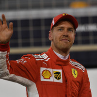 Vettel takes pole as Ferrari lock-out Bahrain front row