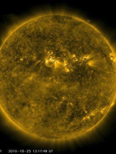 Video shows solar flares along Sun's northern hemisphere