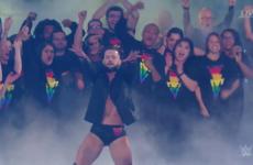 People loved Irish wrestler Finn Balor's big entrance with LGBT fans during WrestleMania last night