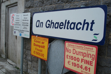 A Ghaeltacht sign in Co Galway.