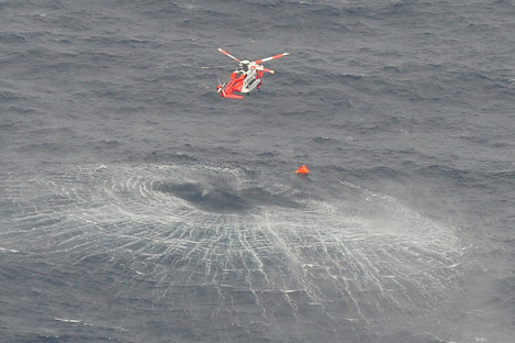 A photograph taken by the Air Corps of the rescue operation.