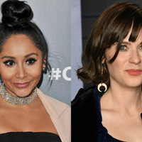 """""""Stay sexy b*tch"""" - Snooki left a note for Zooey Deschanel when she missed her on Larry King Now"""