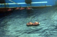 Almost 100 people rescued from life rafts after ship fire