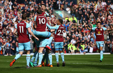 Cork defender Kevin Long scores his first-ever Premier League goal for Burnley