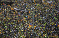 Massive march in Barcelona against jailing of 9 Catalan leaders for rebelling