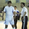 Political football: Iranian and Bolivian leaders line out for footie game