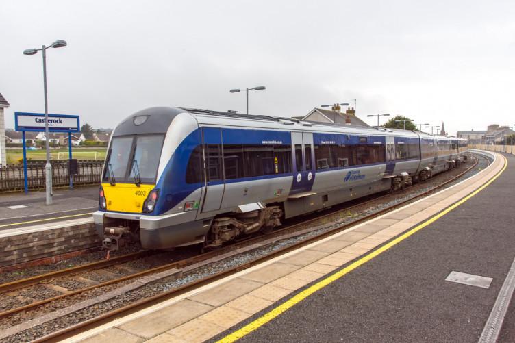 File image: A Translink Train at Castlerock Station in Co Derry.