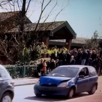 There was a car crash on live TV outside Ant McPartlin's court hearing for drink driving