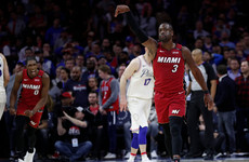 Wade rolls back the years as Miami snap Philadelphia's 17-game winning streak