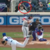 Bryce Harper breaks his bat, still hits a 400 foot home run